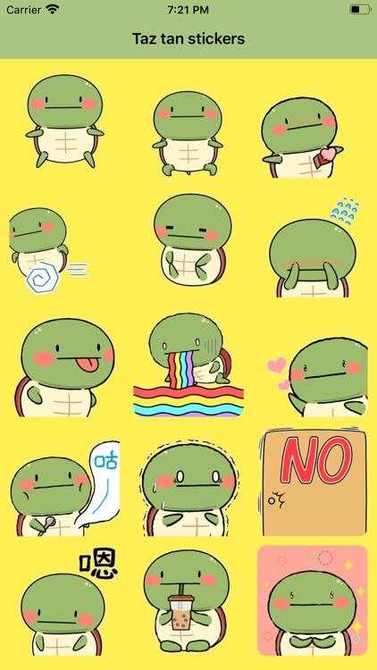 Taz tan stickers