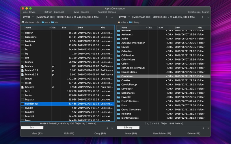 Screenshot #1 for AlphaCommander - File Manager