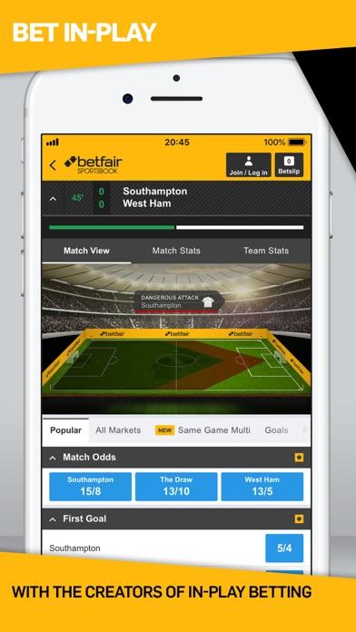Screenshot for Betfair Sports Betting in Romania App Store