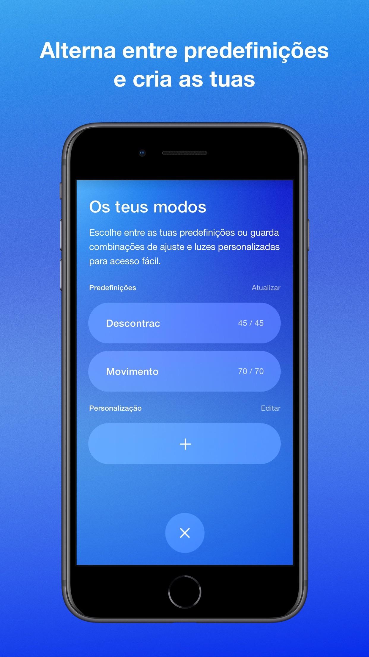 Screenshot do app Nike Adapt