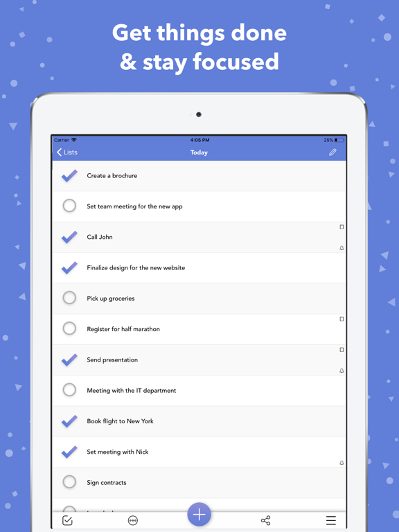 Lists To-do screenshot