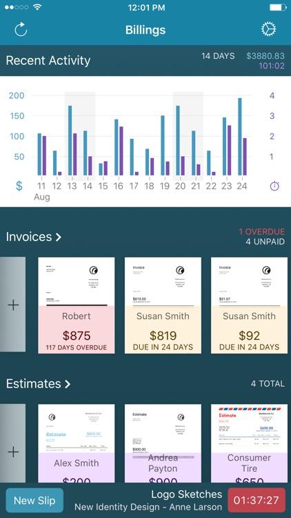 Billings Pro - Time & Invoice