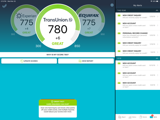 ScoreSense Scores To Go™ - Free Credit Scores and Credit Monitoring on the Go screenshot