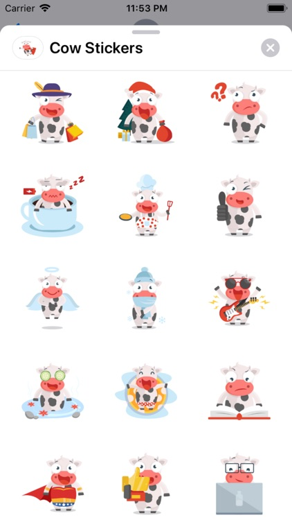 Cow Stickers