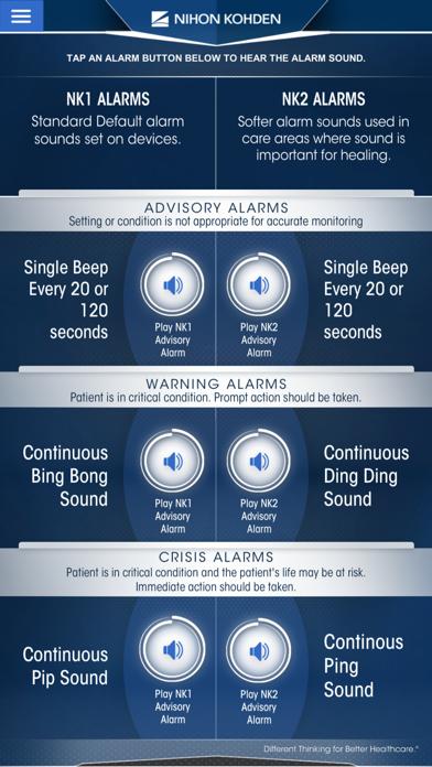 Screenshot of NK Alarms App