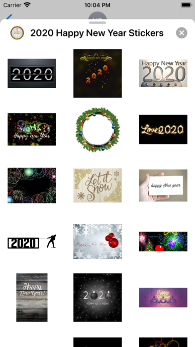 2020 Happy New Year Stickers screenshot 5