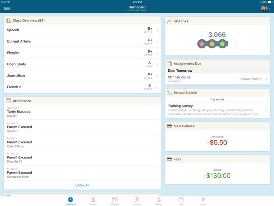 iPad Image of PowerSchool Mobile
