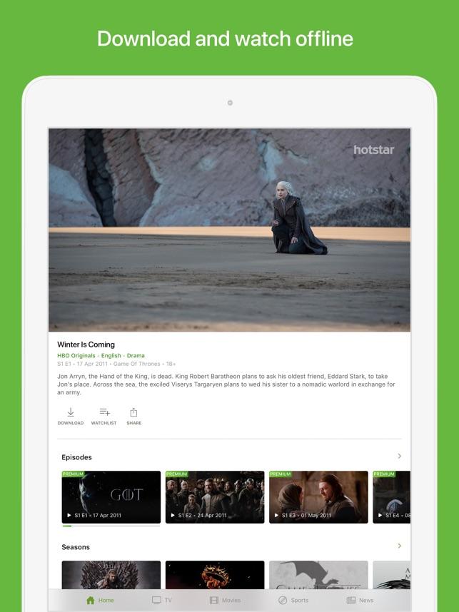 Hotstar en App Store