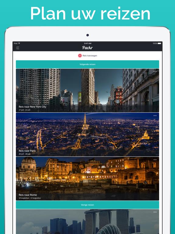 Packr - Reis verpakkingslijst iPad app afbeelding 3
