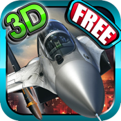 Fighter jet 3D Tactical attack : Chaos Dog-fights over the sea coast line icon
