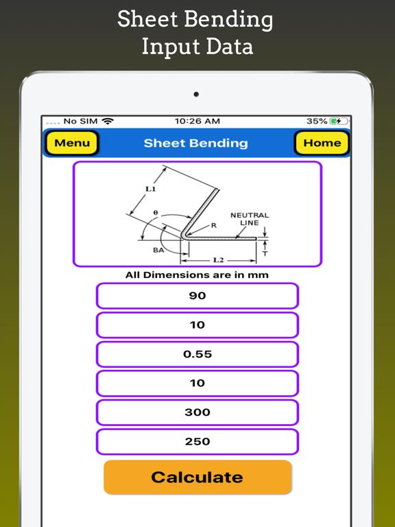 Sheet Bending Calc screenshot 6