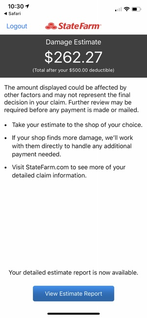 State Farm Report Accident >> State Farm Pocket Estimate On The App Store