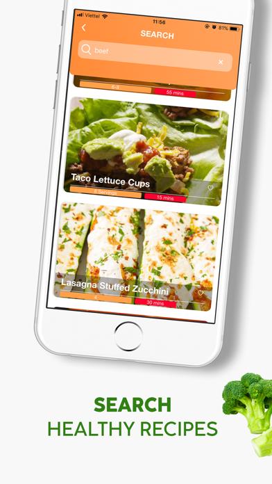 Healthy Recipes, Carb manager Screenshot