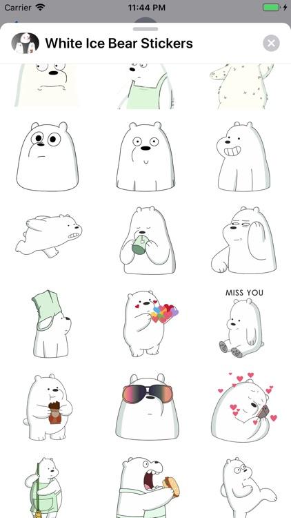 White Ice Bear Stickers
