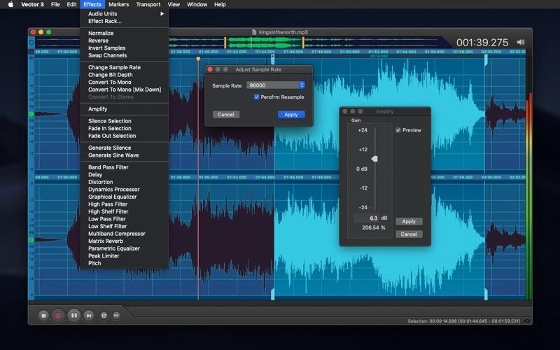 Vector 3 Express: Audio Editor скриншот программы 4