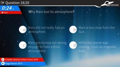 Stargame quiz screenshot two