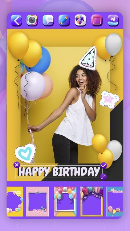 Happy Birthday Cards & Frames screenshot-4