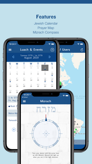 Siddur Zmanim Luach Minyanim review screenshots