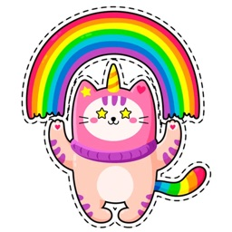 Unicorn Cat - Emoji & Stickers
