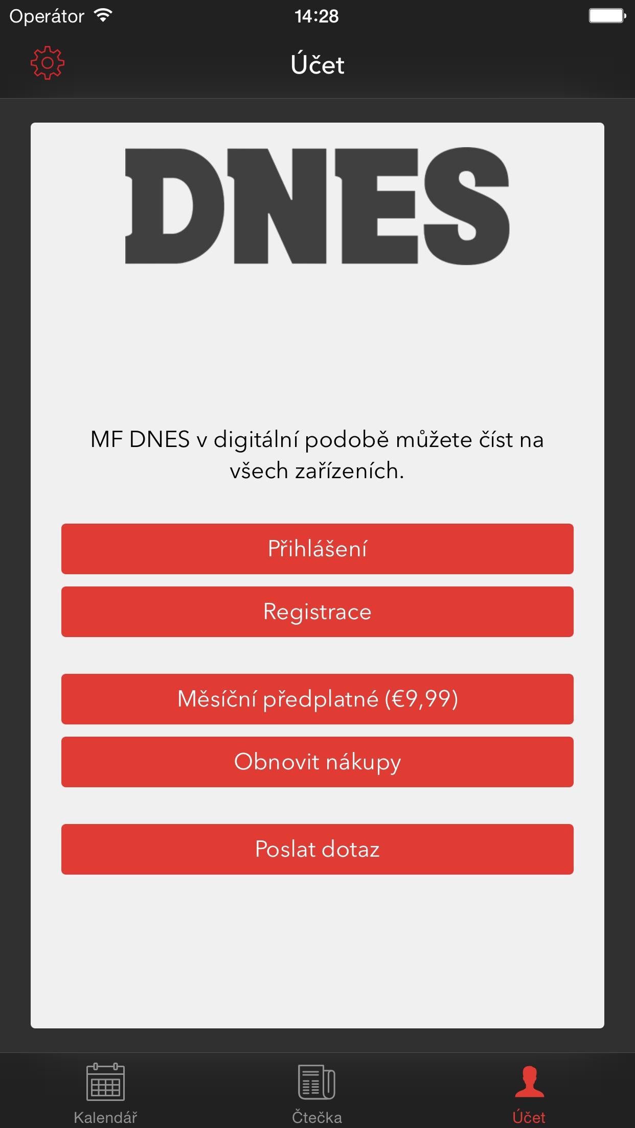 MF DNES Screenshot