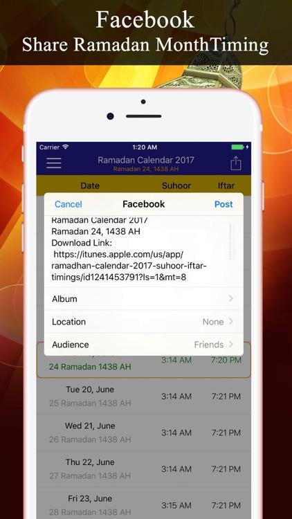 Ramadan Calendar PRO رمضان screenshot-3