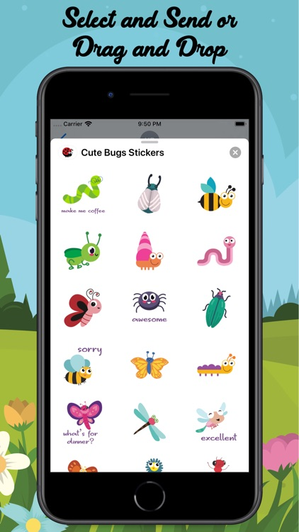 Cute Bugs Stickers screenshot-3