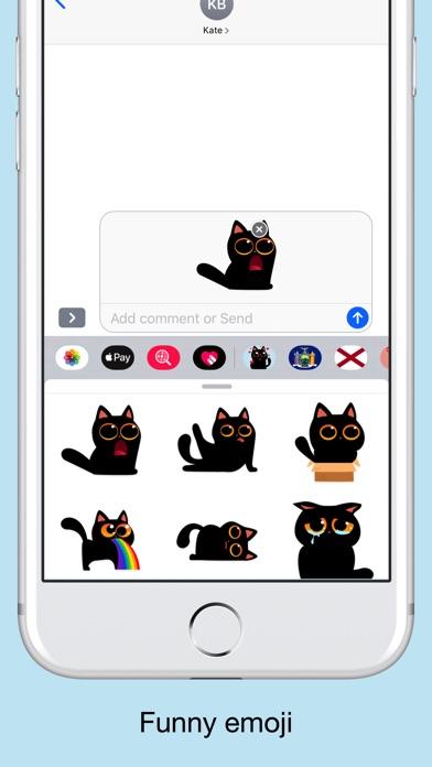 Black cat stickers - Funny emo screenshot 3