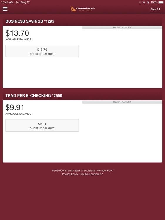 CBLA Mobile Banking for iPad