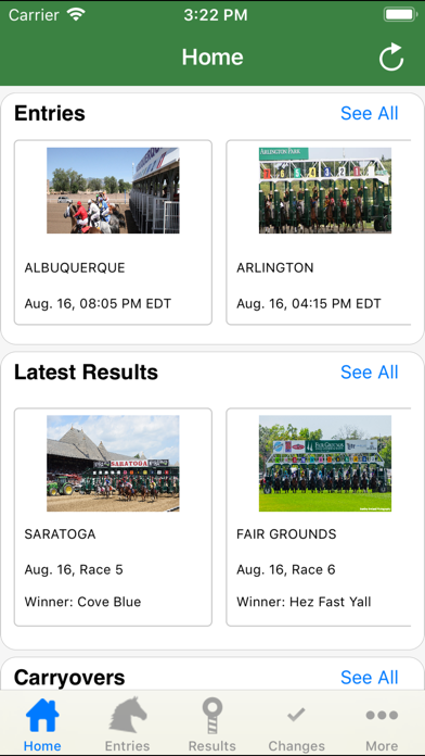Equibase Today's Racing screenshot one