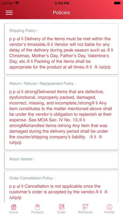 Divisoriaonline vendor center screenshot-4