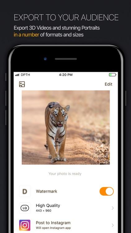 DPTH: AI 3d-photo editor screenshot-3