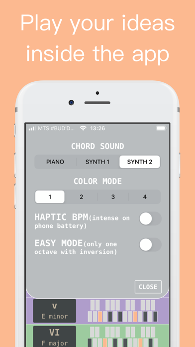 Chord Progression Screenshots