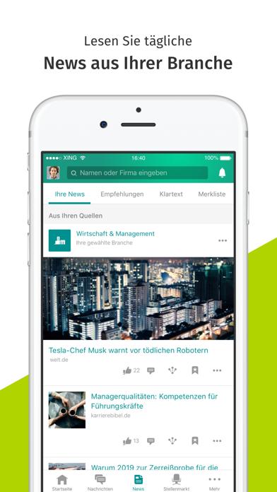 Screenshot for XING in Austria App Store