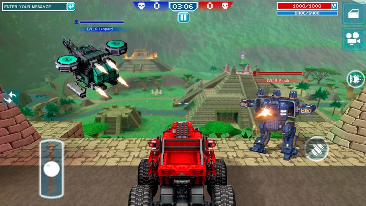 Blocky Cars Online - tank wars screenshot-1