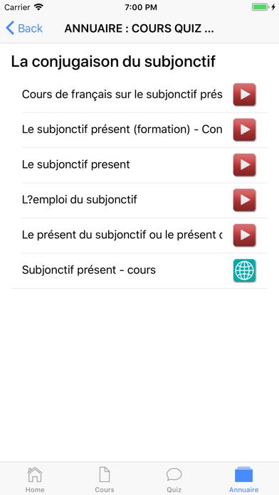 COURS QUIZ 4ème screenshot 10