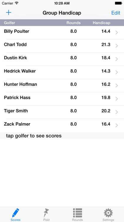 Golf Handicap Group & League screenshot-0