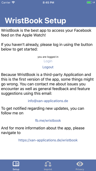 Screenshot for WristBook for Facebook in Kuwait App Store