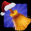 Santa On Broom - Help santa to distribute exciting gifts this year