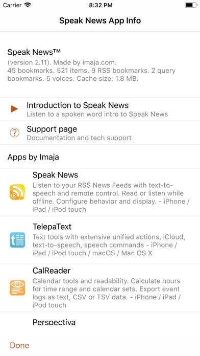 Speak News - RSS news... screenshot1