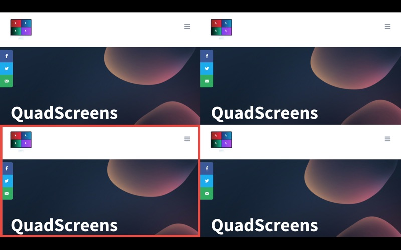 Quadscreens for Mac