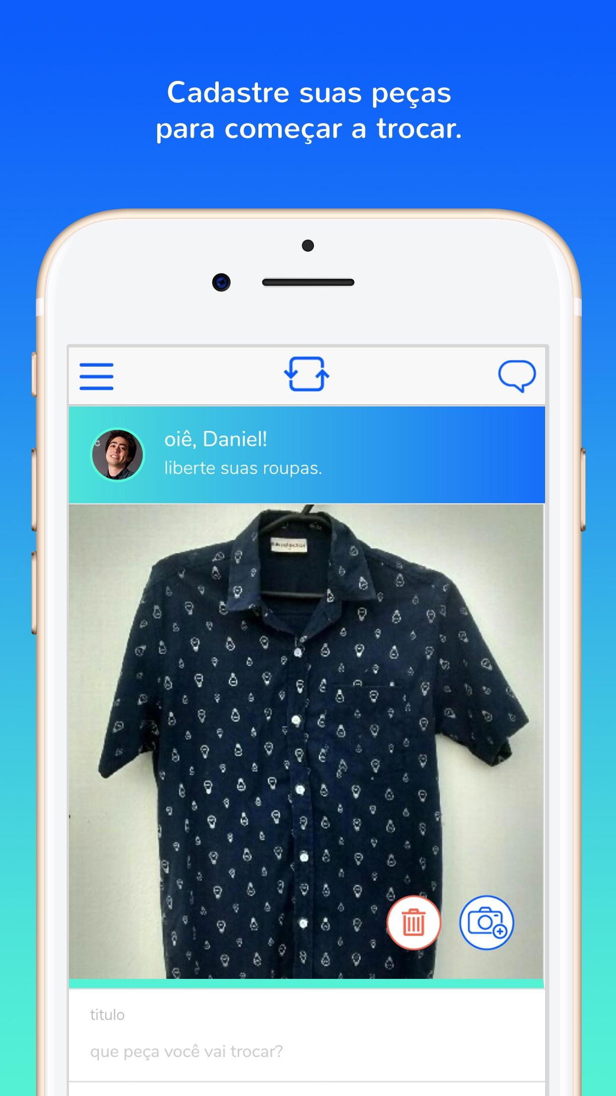 Screenshot do app Roupa Livre