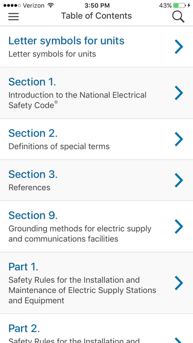 NESC 2017 IEEE App screenshot three