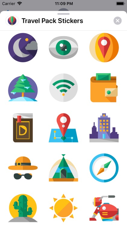 Travel Pack Stickers