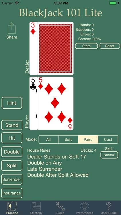Blackjack 101 - Play Perfect