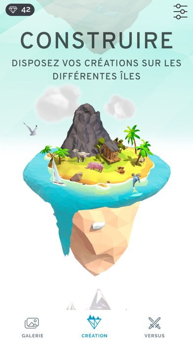 Poly Island: Coloring Art Book