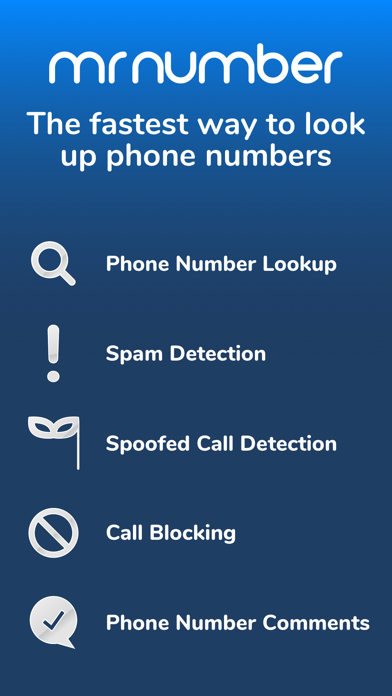 Mr. Number Lookup & Call Block Screenshot