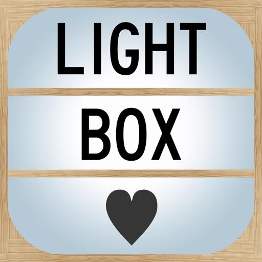Light up letter box