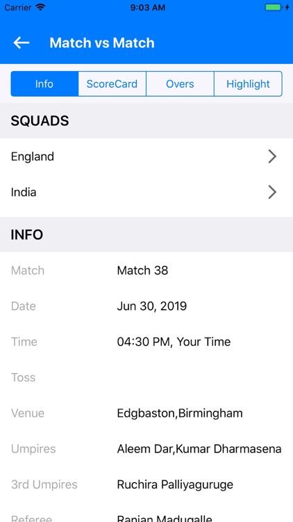 Cricket Live Scores World