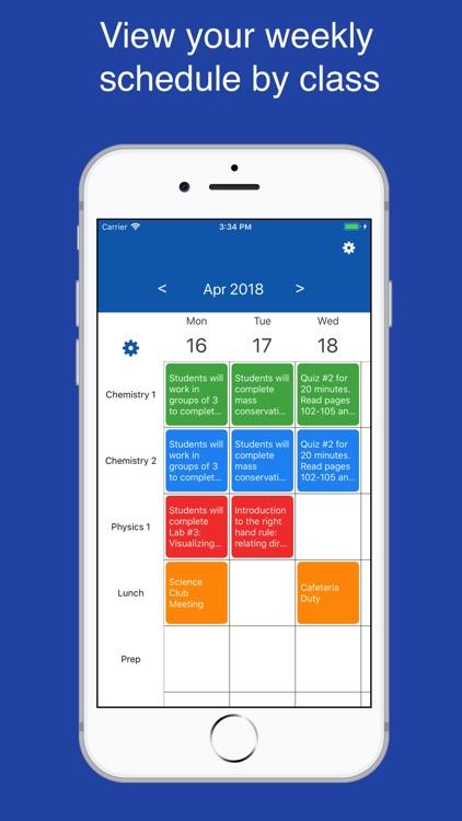 Class Planner for teachers screenshot-0