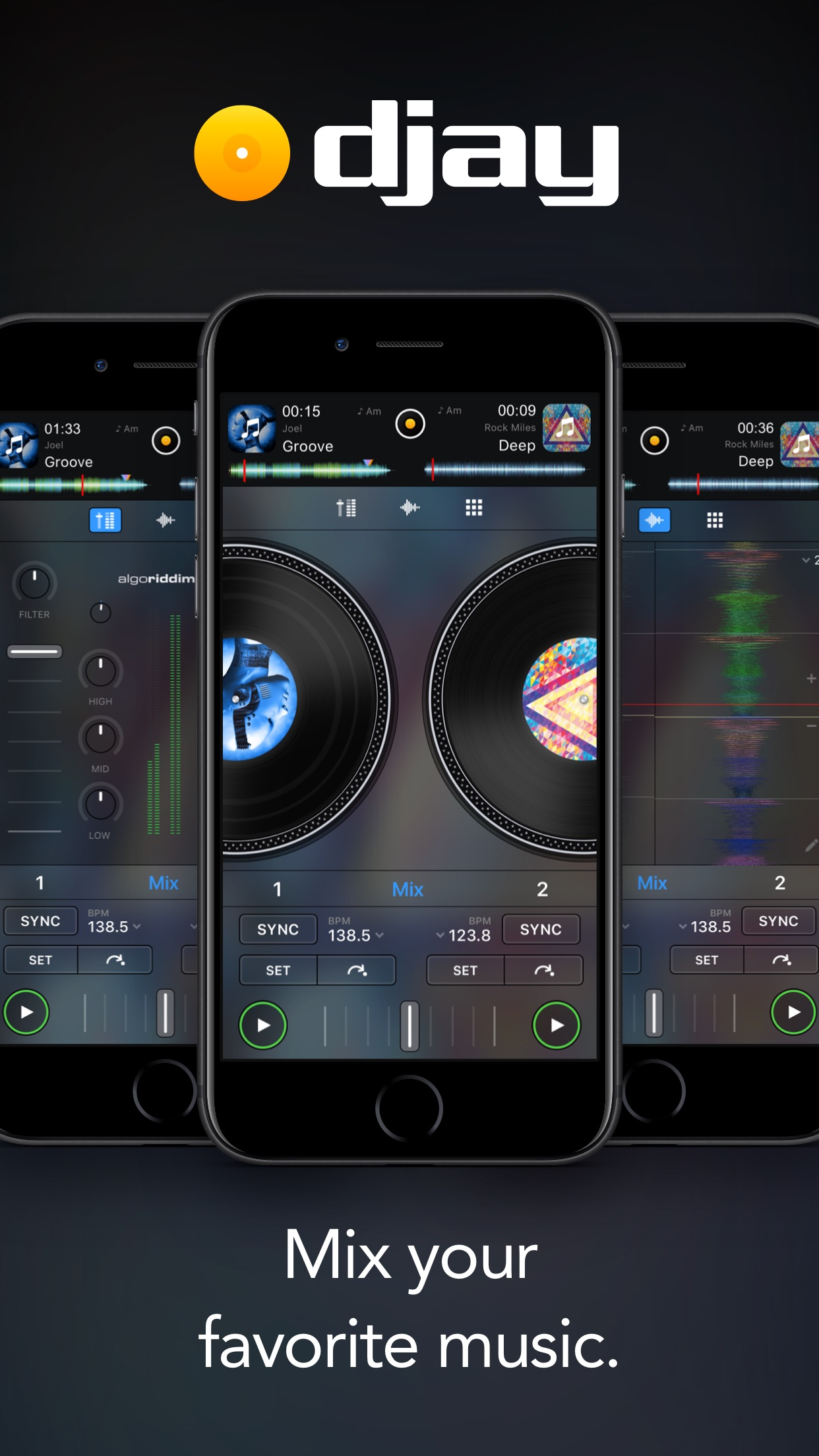 Screenshot do app djay - DJ App & Mixer